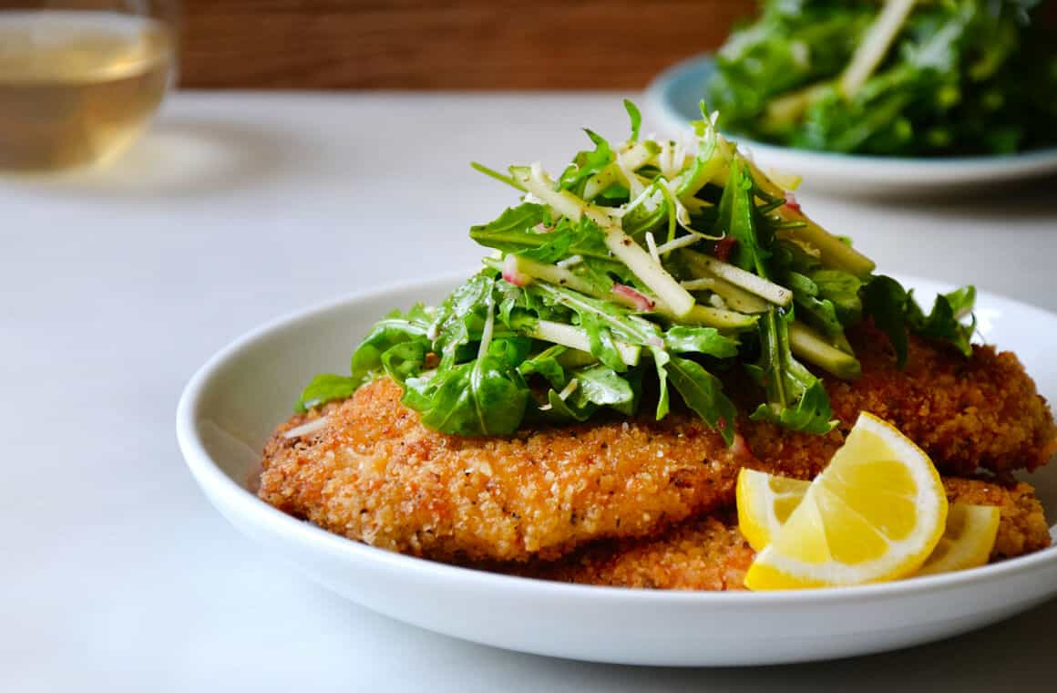 MONDAY: Chicken Milanese with Green Apple Salad