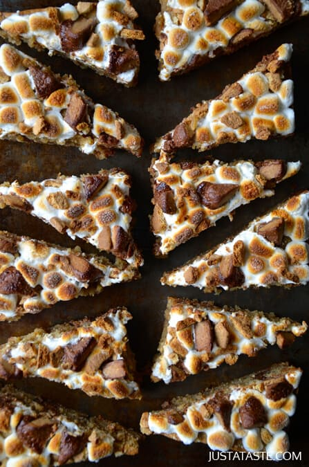 Peanut Butter S'mores Bars #recipe