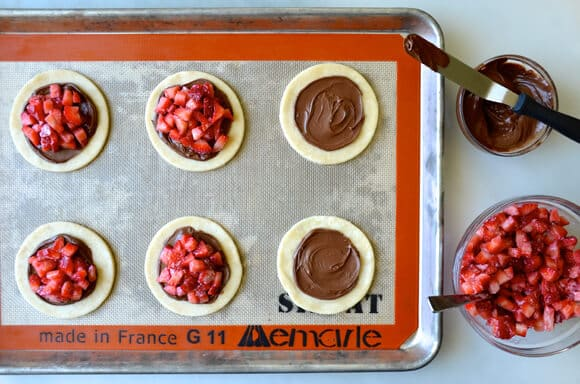 Strawberry and Nutella Hand Pies #recipe
