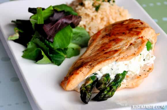 Asparagus and Goat Cheese Stuffed Chicken Recipe