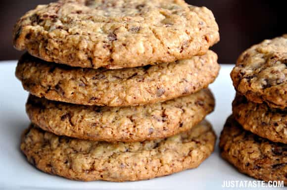 Blended Oatmeal Chocolate Chip Cookies Recipe