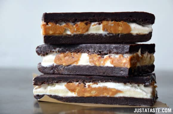 Peanut Butter Brownie Ice Cream Sandwiches Recipe