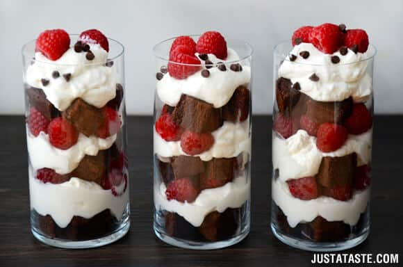 Individual Fruit and Brownie Trifles Recipe