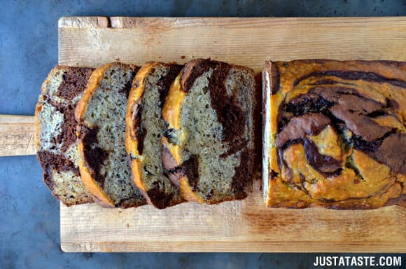 Chocolate Swirl Banana Bread Recipe
