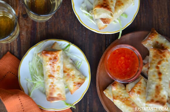 Crispy Baked Chicken Spring Rolls Recipe