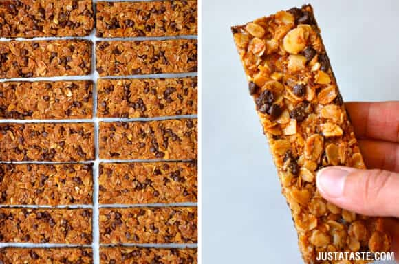 Homemade Chocolate Chip Granola Bars Recipe