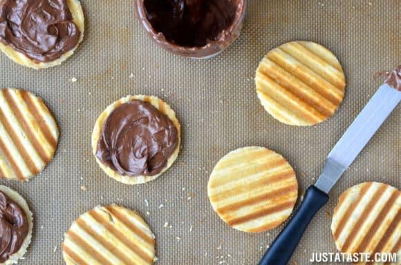 Nutella Waffle Sandwich Cookies Recipe