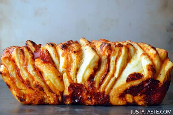 Pepperoni Pizza Pull-Apart Bread Recipe