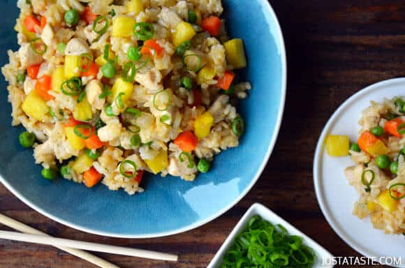 Pineapple Chicken Fried Rice Recipe