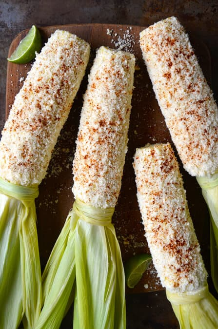 Just a Taste | Cheesy Roasted Garlic Corn on the Cob