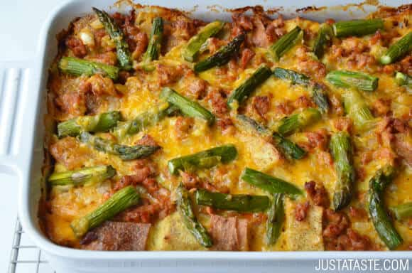 Overnight Egg and Sausage Strata Recipe