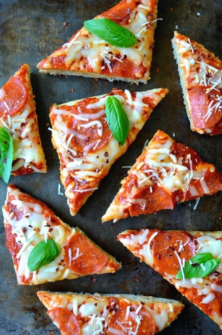 Just a Taste | Homemade Focaccia Bread Pizza