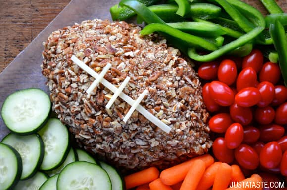 Easy Football Cheese Ball Recipe