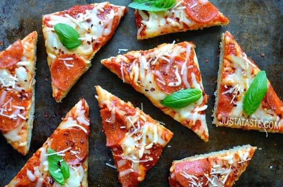 Homemade Focaccia Bread Pizza Recipe