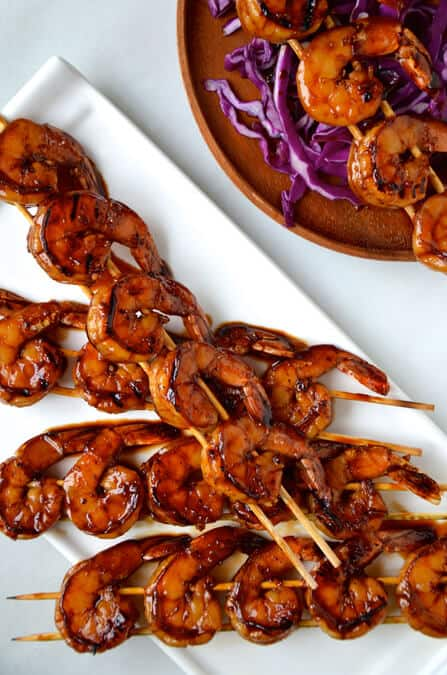 Glazed Honey Garlic Shrimp