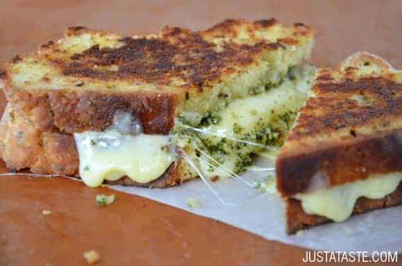 St. Patrick's Day: Irish Soda Bread Grilled Cheese with Pesto Recipe
