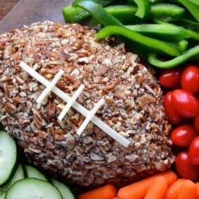 Easy Football Cheese Ball Recipe