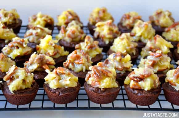 German Chocolate Brownie Bites Recipe