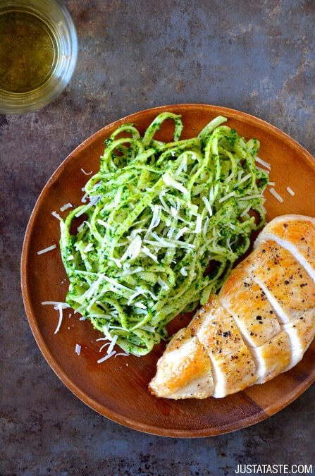 Pumpkin Seed Pesto Pasta with Chicken Recipe