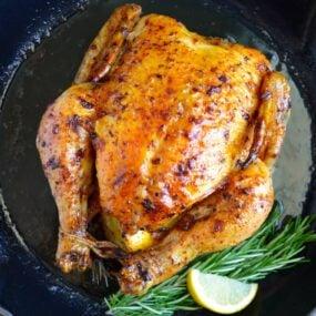 Simple Roast Chicken with Garlic and Lemon Recipe