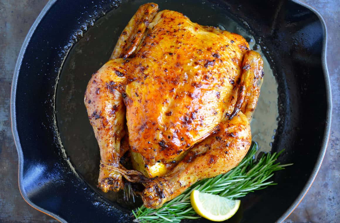 Just A Taste Simple Roast Chicken With Garlic And Lemon