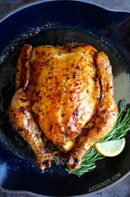 Garlic Roast Chicken Recipe Just a taste simple roast chicken with ...