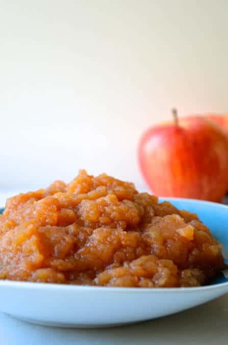 Slow Cooker Applesauce Recipe from justataste.com
