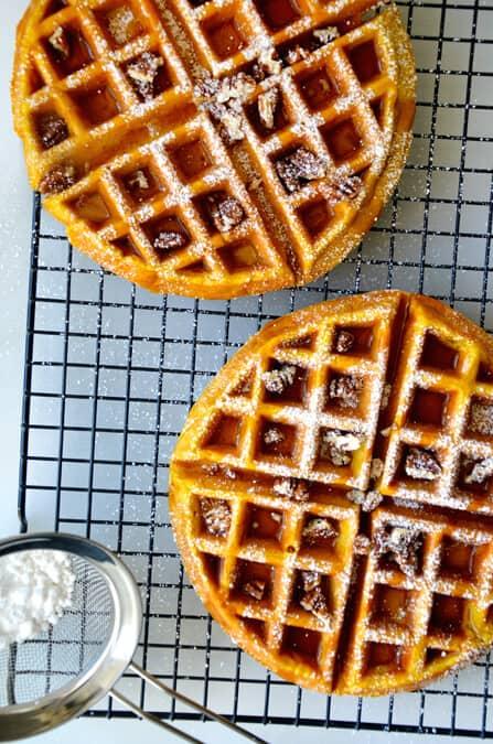 Pumpkin Spice Waffles Recipe