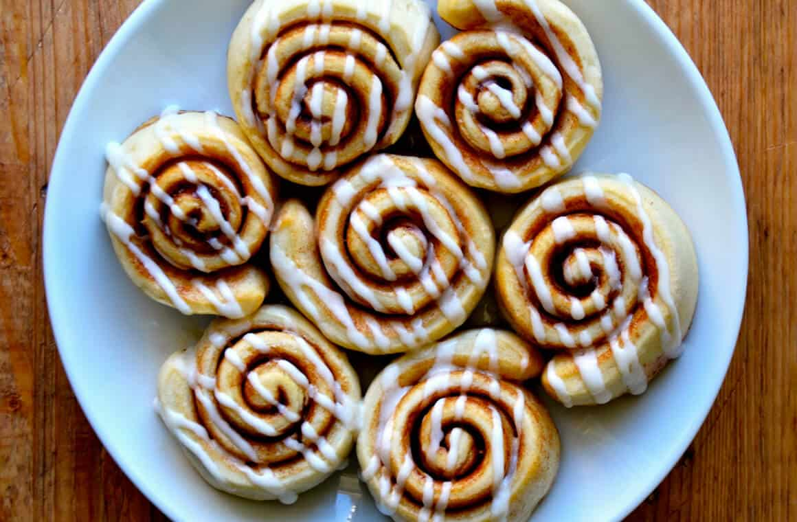 Pizza Dough Cinnamon Rolls | Just a Taste