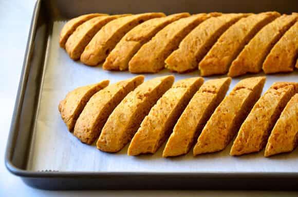 Pumpkin Pie Biscotti Recipe from justataste.com