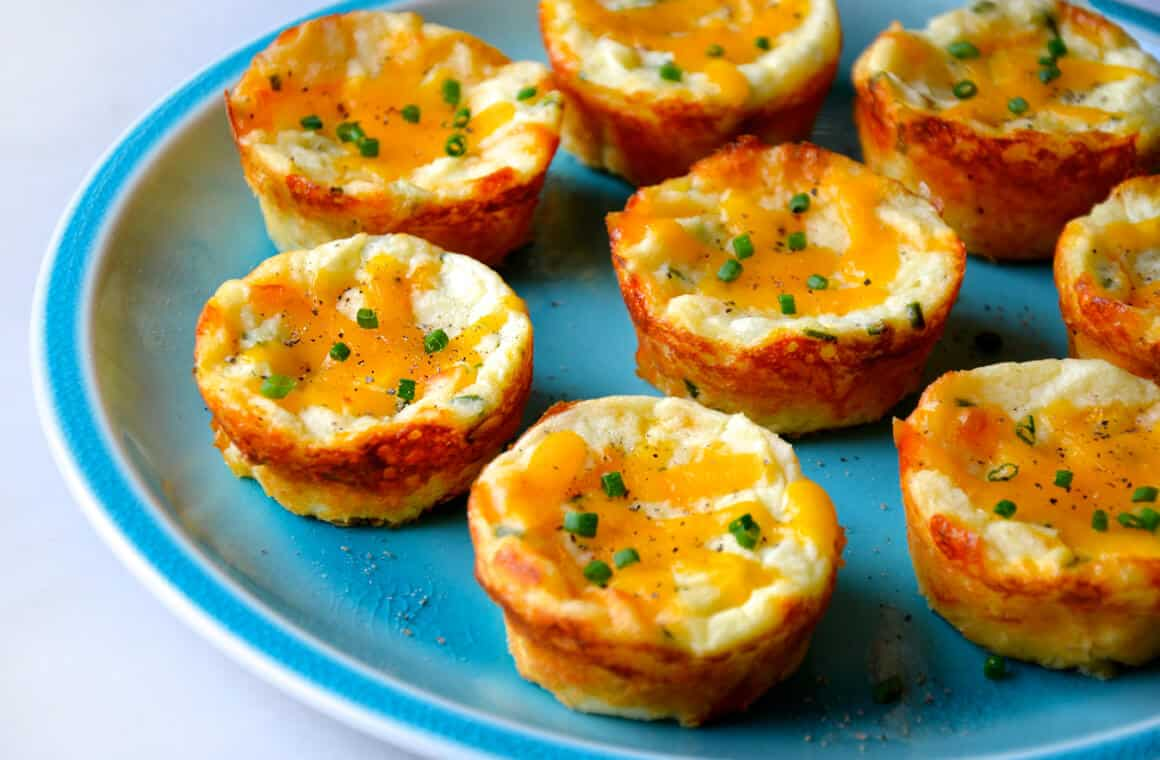 Just A Taste Cheesy Leftover Mashed Potato Muffins