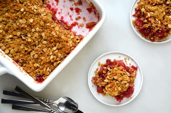 Leftover Cranberry Sauce and Apple Crisp Recipe from justataste.com