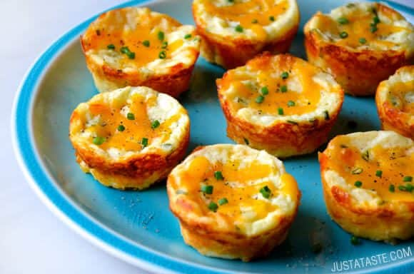 St. Patrick's Day: Cheesy Leftover Mashed Potato Muffins Recipe from justataste.com