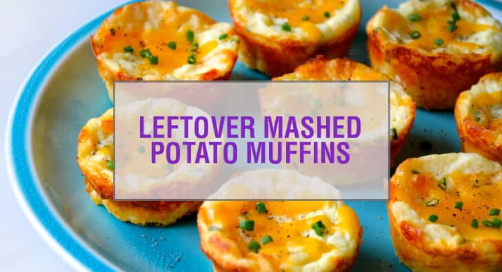 Cheesy Leftover Mashed Potato Muffins Recipe