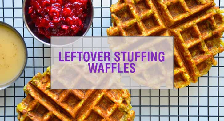 Leftover Stuffing Waffles Recipe
