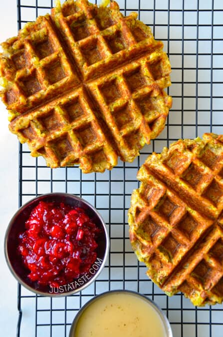 Leftover stuffing waffles just a taste pin it leftover stuffing waffles recipe from justataste forumfinder Gallery