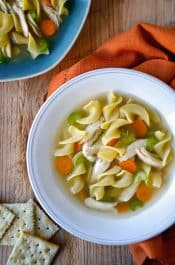 Slow Cooker Chicken Noodle Soup Recipe from justataste.com