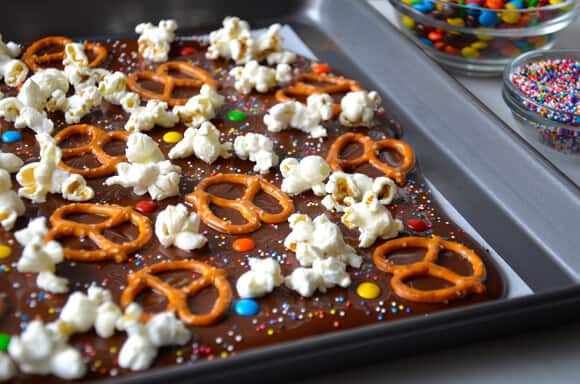 smoked salt pretzel and potato chip chocolate bark recipes smoked salt ...