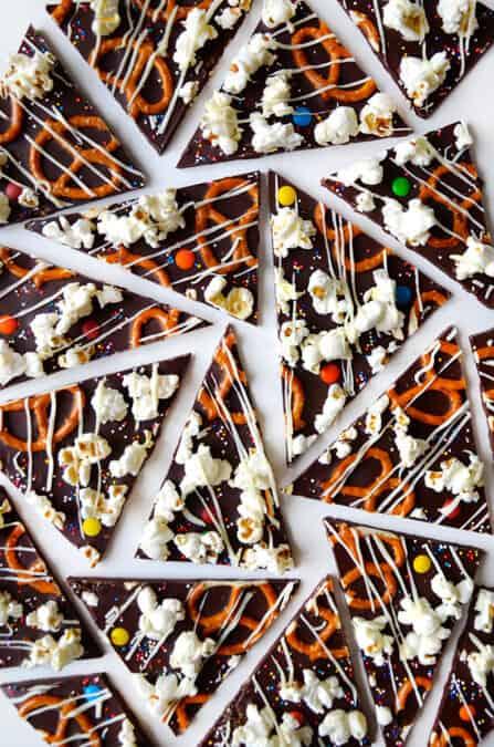 Sweet and Salty Dark Chocolate Bark Recipe on justataste.com