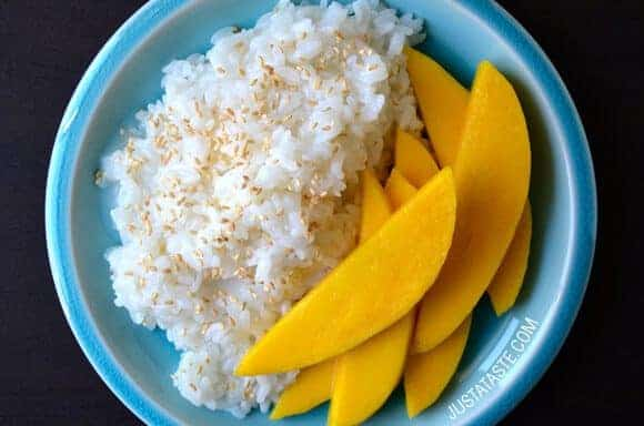 Takeout Recipes: Thai Coconut Sticky Rice with Mango recipe on justataste.com