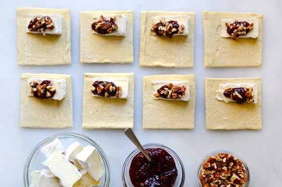 Baked Brie Bites with Jam recipe on justataste.com