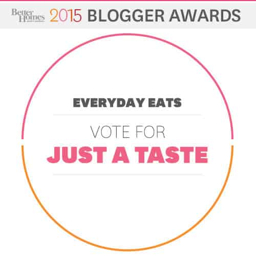 2015 Better Homes And Gardens Blogger Awards Just A Taste