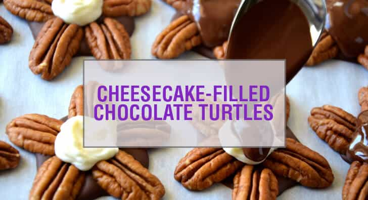 Cheesecake-Filled Chocolate Turtles Recipe