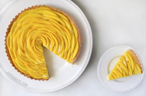 Mango Tart with Vanilla Bean Pastry Cream Recipe on justataste.com