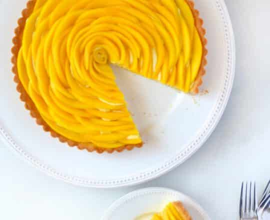 Mango Tart with Vanilla Bean Pastry Cream