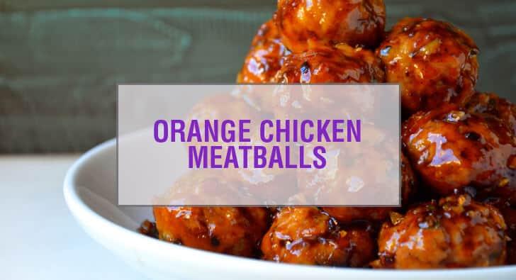 Baked Orange Chicken Meatballs Recipe