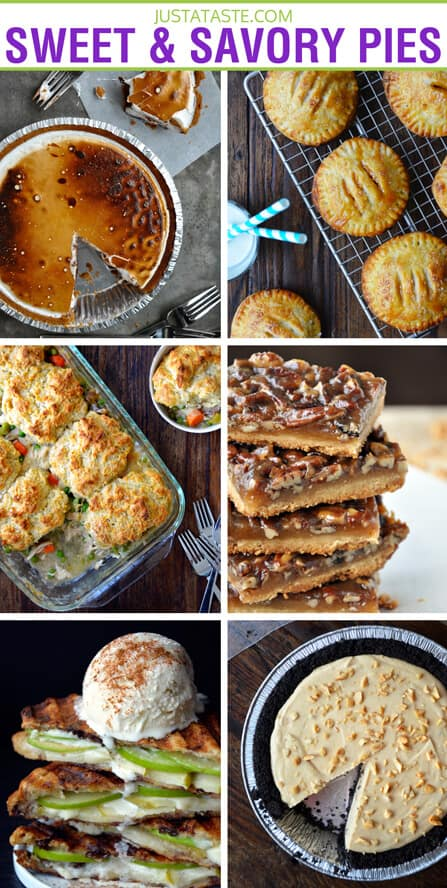 Sweet and Savory Pie Recipes on justataste.com