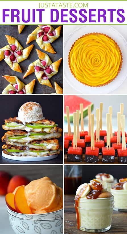 Easy Fruit Dessert Recipes on justataste.com