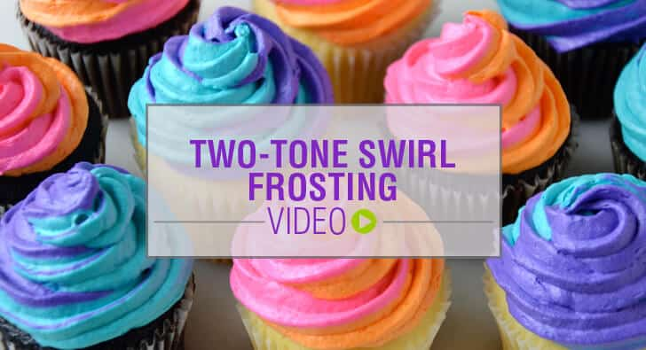 How to Pipe Swirl Frosting Video