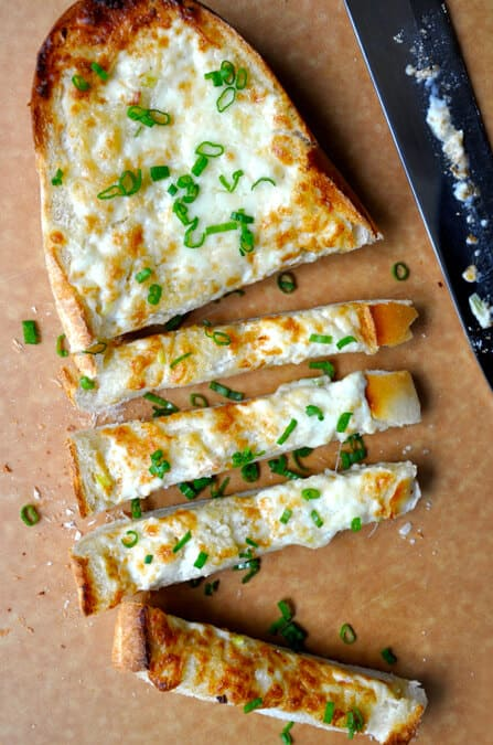 Secret Ingredient Cheesy Garlic Bread recipe